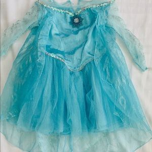 Disney Frozen Girls Costume Dress Teal Blue 3T-4T